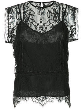 Magali Pascal lace-embroidered playsuit - Black