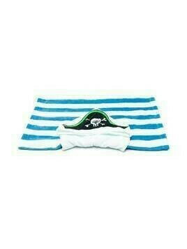 Stella McCartney Kids pirate striped towel - Blue
