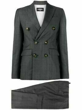 Dsquared2 double breasted virgin wool suit jacket - Grey