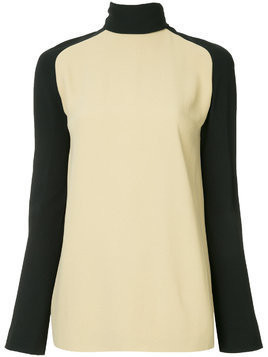 Haider Ackermann turtleneck bicolour blouse - Nude & Neutrals