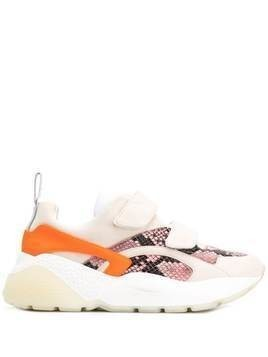 Stella McCartney python effect Eclypse touch strap sneakers - PINK