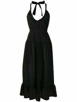 Marysia Olio woven tiered-design dress - Black