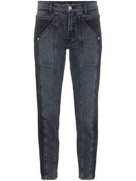 Adaptation Rider two-tone skinny jeans - Black