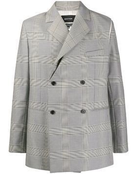 Botter checked double breasted blazer - Grey