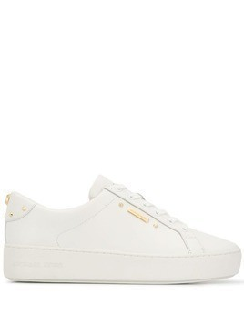 Michael Michael Kors Poppy lace up trainers - White