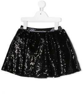 Miss Blumarine sequin embroidered tutu - Black