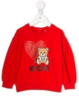 Moschino Kids Teddy Bear print sweatshirt - Red
