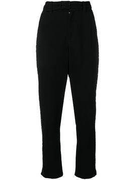Derek Lam 10 Crosby rhinestone tuxedo stripe trousers - Black