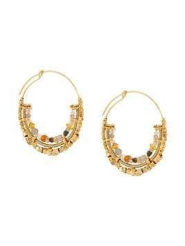 Gas Bijoux Comedia hoop earrings - GOLD