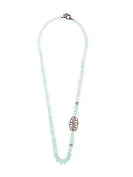 Loree Rodkin beaded chalcedony quartz necklace - Metallic