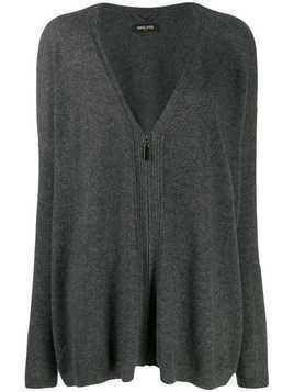 Max & Moi zip-up cashmere cardigan - Grey