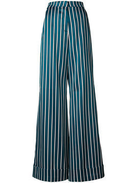 Self-Portrait - striped palazzo trousers - Damen - Polyester - 4 - Unavailable