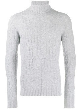 Drumohr cable knit roll neck jumper - Grey