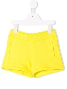 Little Marc Jacobs logo patch shorts - Yellow
