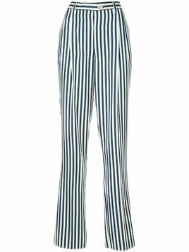 Giuliva Heritage Collection striped straight-leg trousers - Blue