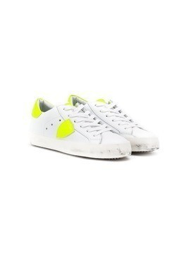 Philippe Model Kids lace-up shield trainers - White
