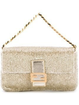 Fendi micro 'Baguette' clutch - Metallic