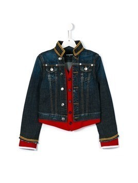 Dsquared2 Kids denim band jacket - Blue