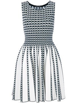Antonino Valenti intarsia-knit dress - White