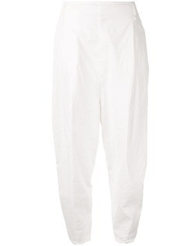 Masnada wide leg tapered trousers - White