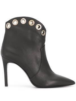 P.A.R.O.S.H. Teke eyelet ankle boots - Black