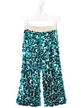 La Stupenderia sequin wide leg trousers - Blue