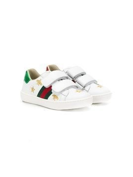 Gucci Kids bees embroidery sneakers - White