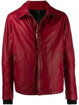 Isaac Sellam Experience zip front leather jacket - Red
