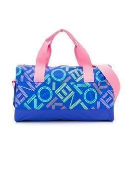 Kenzo Kids logo-print weekend bag - Blue
