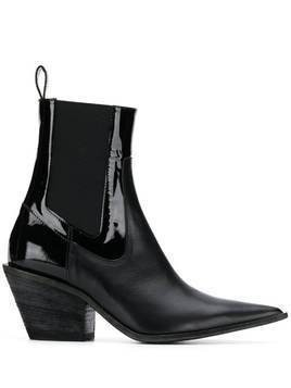 Haider Ackermann pointed toe boots - Black