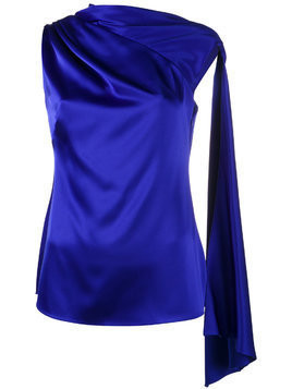 Osman adena sleeveless scarf top - Blue