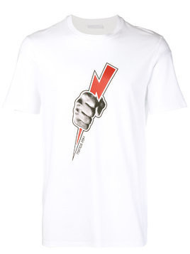 Neil Barrett Danger sign T-shirt - White