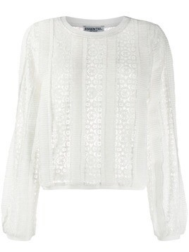 Essentiel Antwerp lace knit top - White