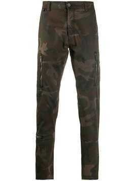 John Varvatos camouflage print trousers - Brown