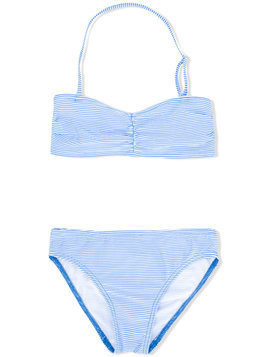 Douuod Kids striped bikini set - Blue