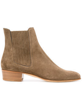 Louis Leeman pointed ankle boots - Brown