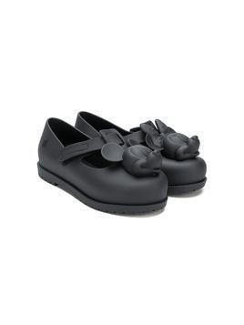 Mini Melissa Donald duck ballerina shoes - Black