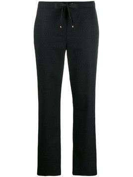 Les Copains metallic stripe straight-leg trousers - Blue