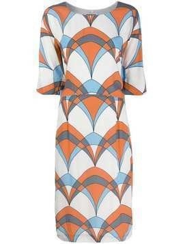 Essentiel Antwerp colour block midi dress - White