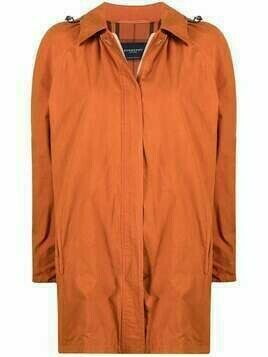 Burberry Pre-Owned 1980s hooded parka - Orange