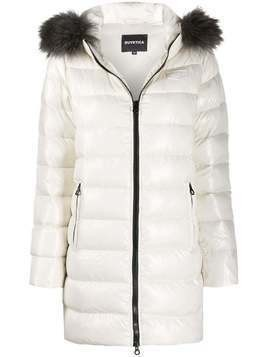 Duvetica padded hooded coat - Neutrals