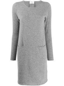 Allude long-sleeved cashmere dress - Grey