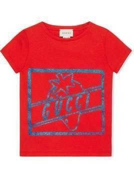 Gucci Kids Gucci strawberry T-shirt - Red