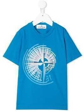 Stone Island Junior logo print T-shirt - Blue