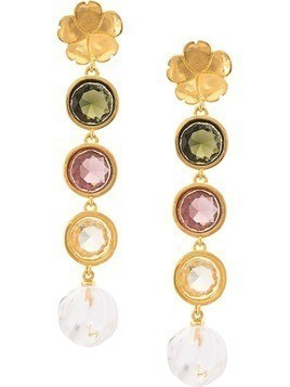 Lizzie Fortunato Jewels Nonna Flower earrings - Gold