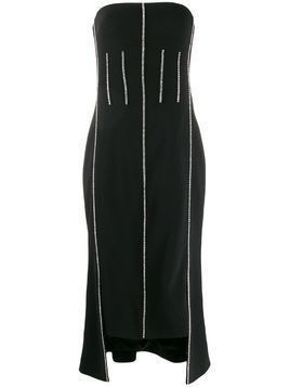David Koma crystal-embellished strapless dress - Black