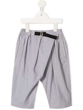 Fith belted wrap front trousers - Grey