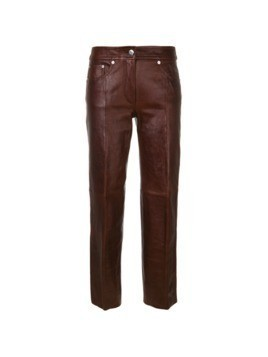 Helmut Lang faux leather trousers - Brown