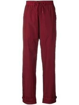 Han Kjøbenhavn touch strap ankle track trousers - Red