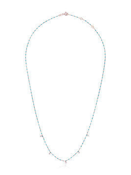 Gigi Clozeau Blue 5 Diamond 18k Rose Gold Necklace